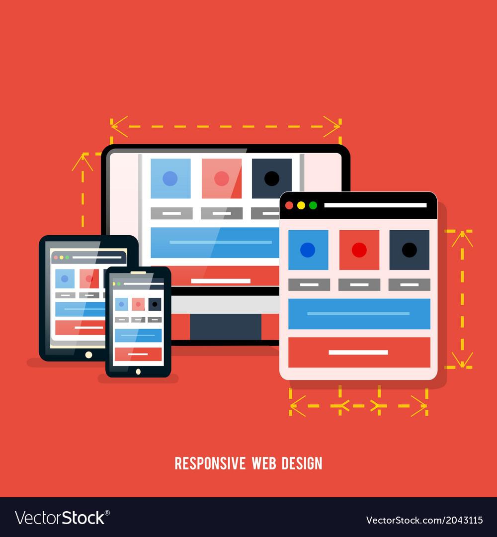 Web design concept vector | Price: 1 Credit (USD $1)