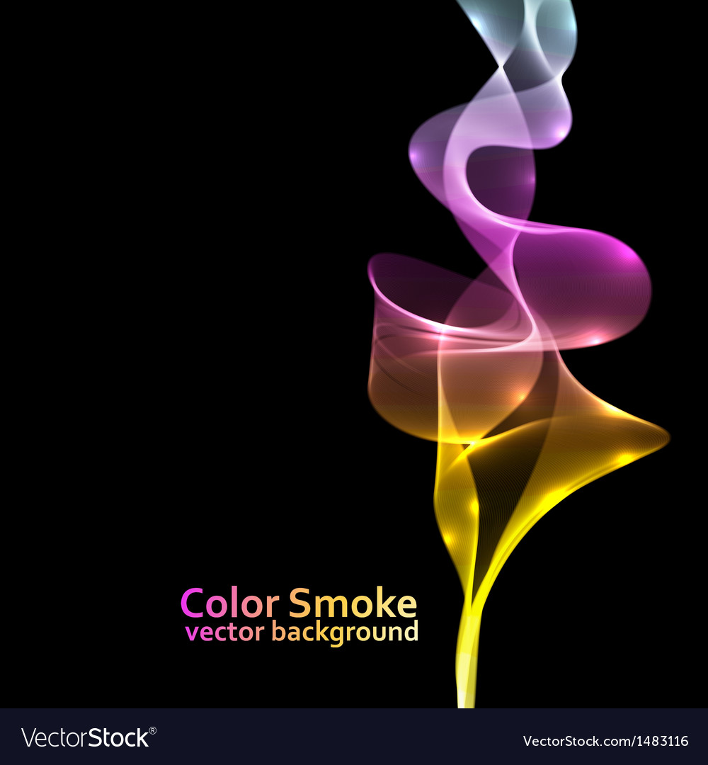 Abstract colorful smoke background with black copy vector | Price: 1 Credit (USD $1)