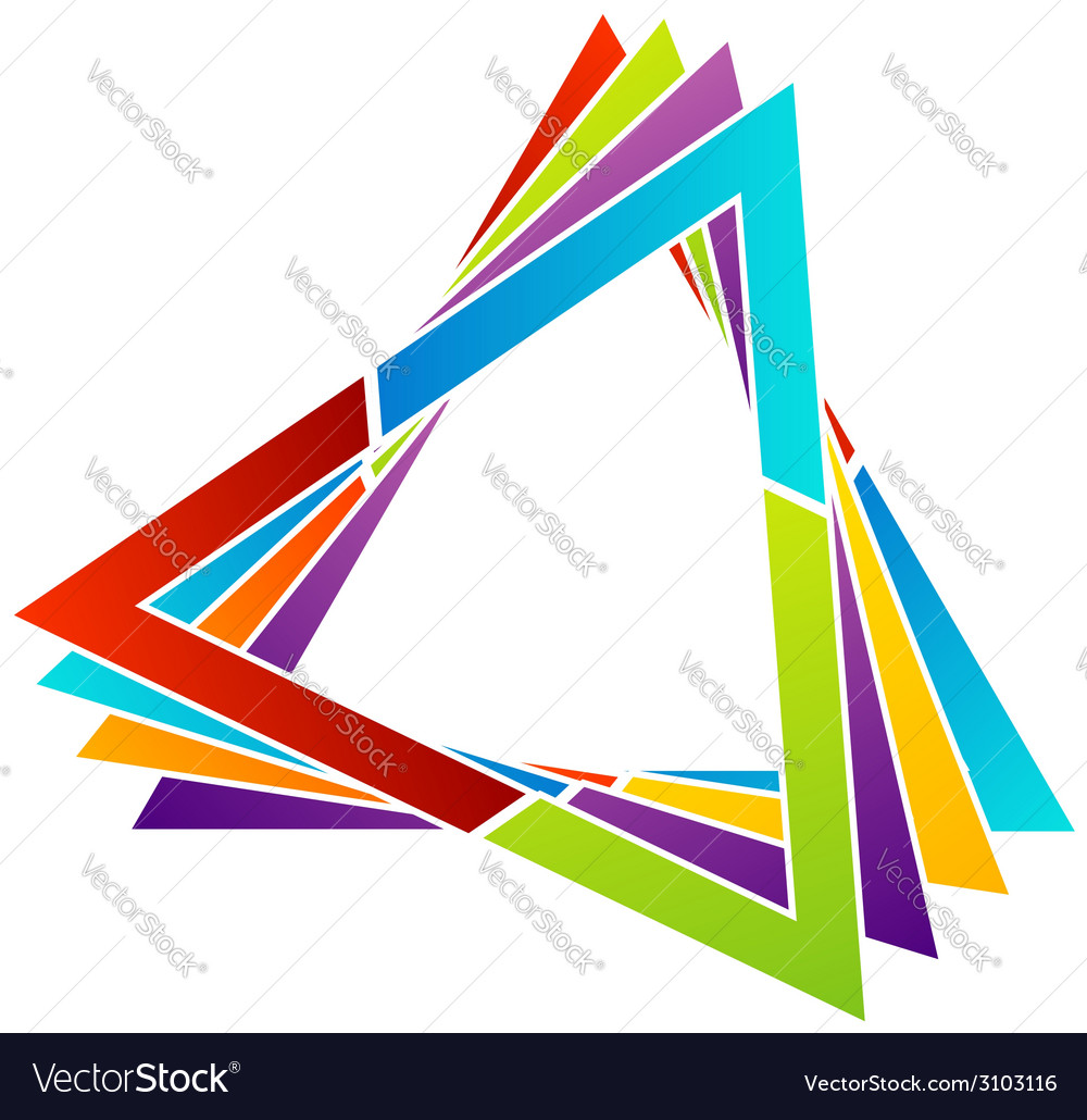 Abstract triangular colorful logo vector | Price: 1 Credit (USD $1)