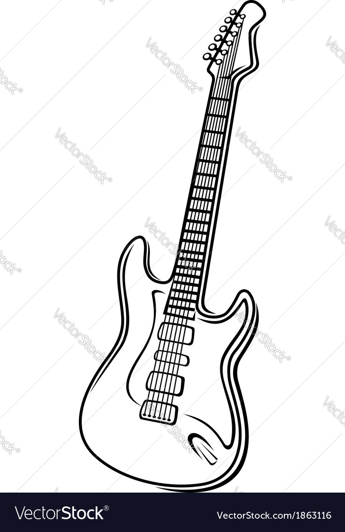 An electric guitar vector | Price: 1 Credit (USD $1)