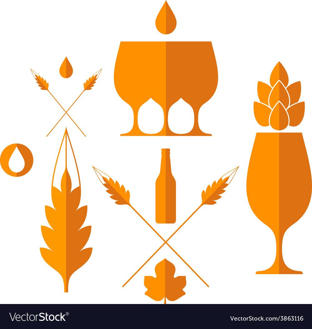 Beer set vector | Price: 1 Credit (USD $1)
