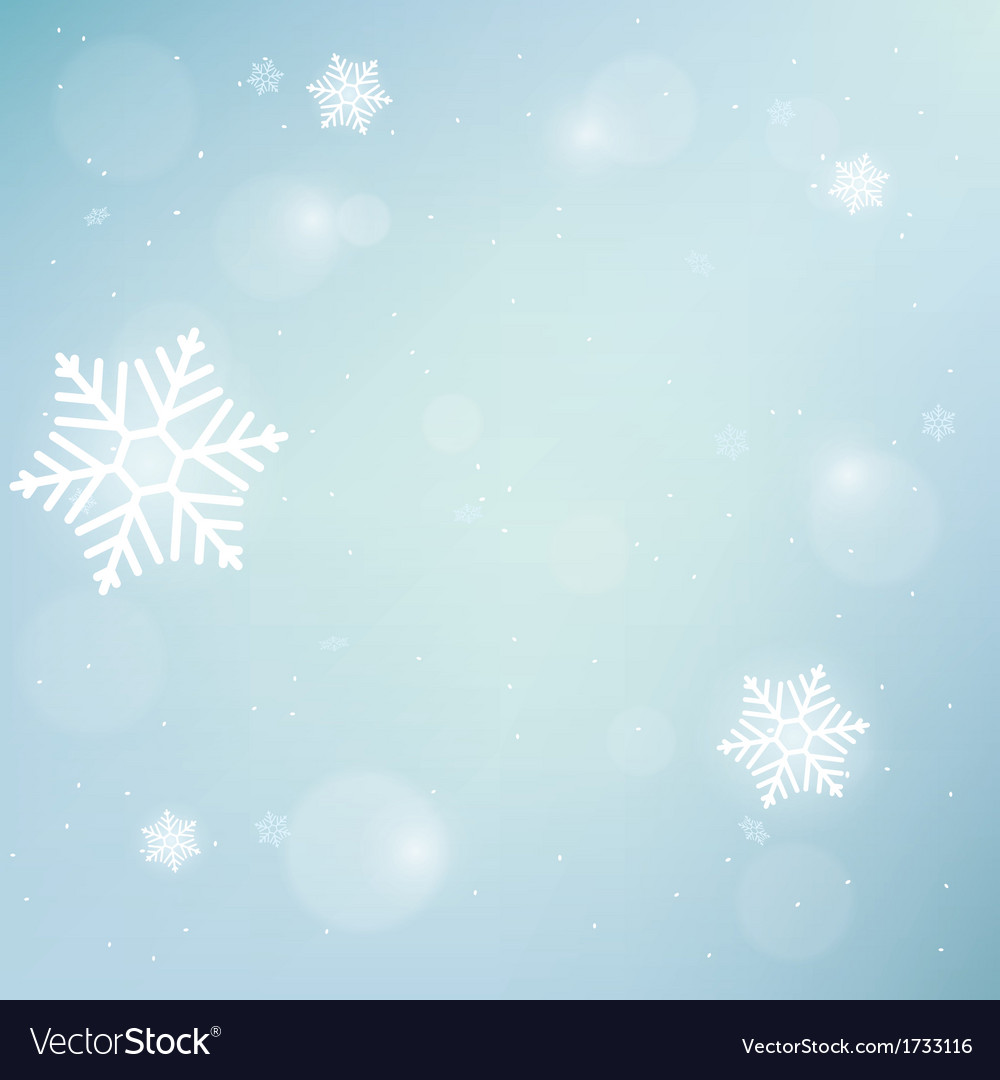 Blue winter background vector | Price: 1 Credit (USD $1)