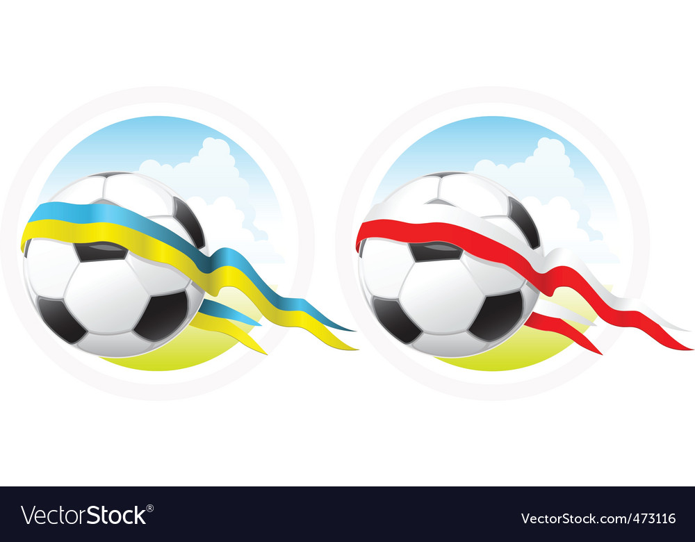 Euro 2012 soccer emblem vector | Price: 1 Credit (USD $1)