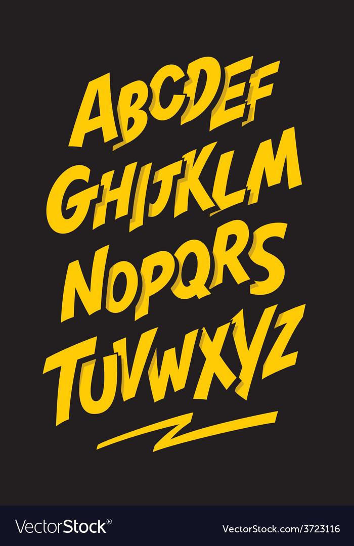 Graffiti comics style font alphabet vector | Price: 1 Credit (USD $1)