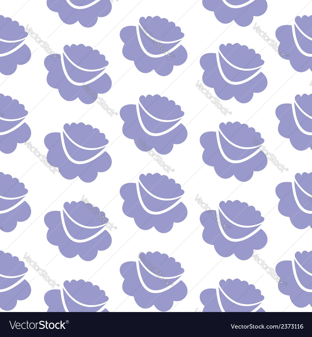 Lilac flowers seamless background vector | Price: 1 Credit (USD $1)