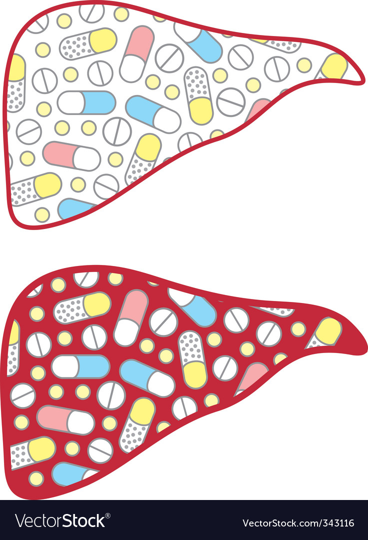 Liver filled tablets vector | Price: 1 Credit (USD $1)
