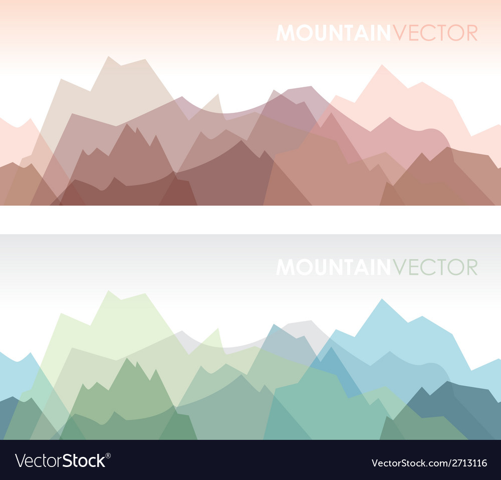 Mountains green vector | Price: 1 Credit (USD $1)