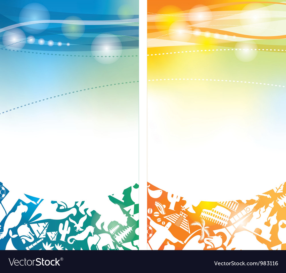 Shiny summer banners vector | Price: 1 Credit (USD $1)