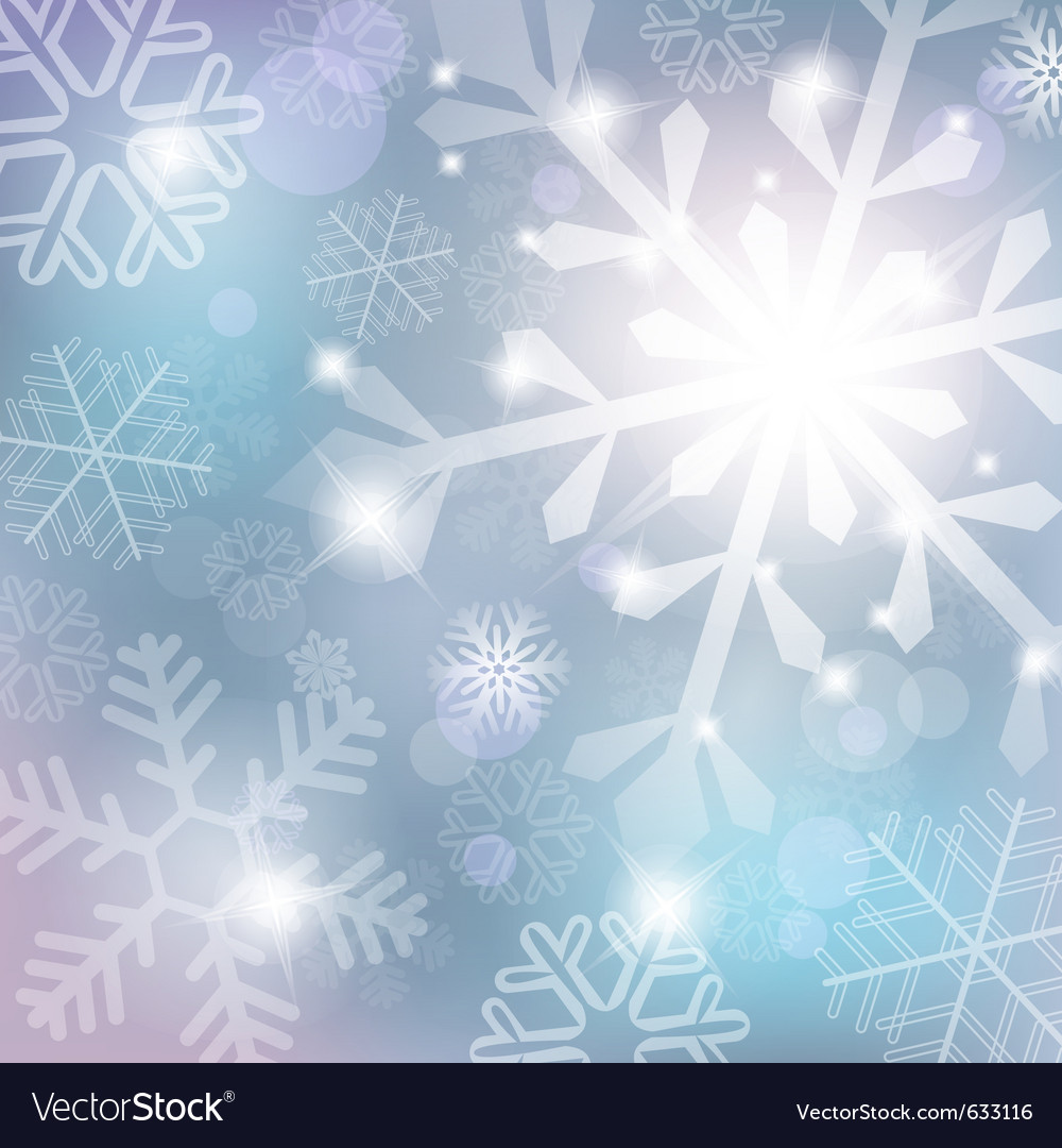 Silver abstract background with snowflake vector
