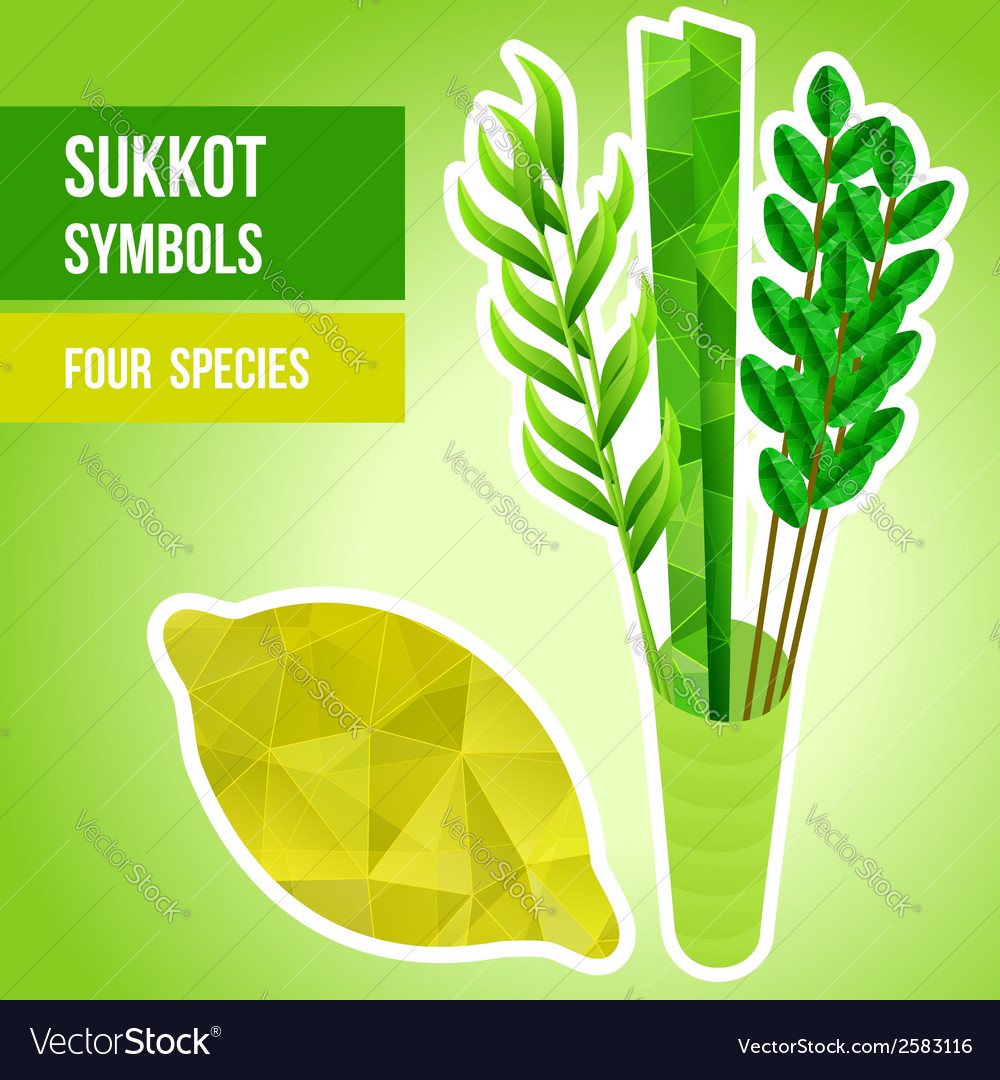Sukkot symbols vector | Price: 1 Credit (USD $1)