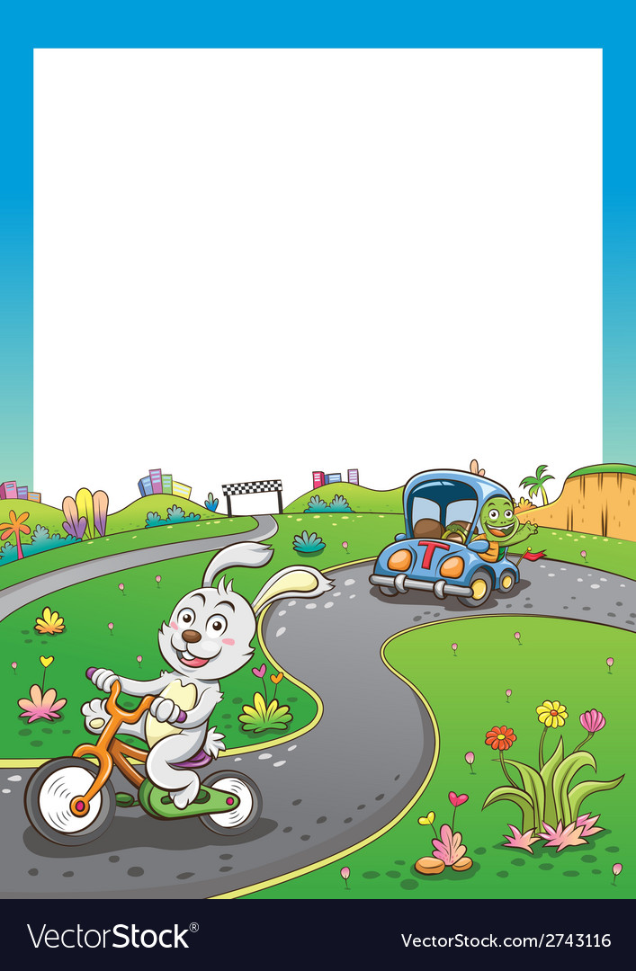 Vehicles rabbit turtur background tall vector | Price: 3 Credit (USD $3)