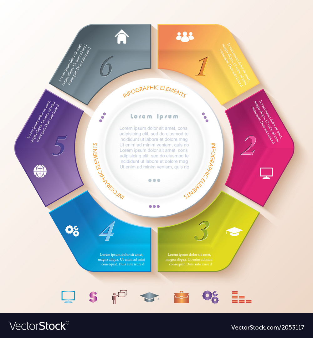 Abstract infographic design with circle vector | Price: 1 Credit (USD $1)