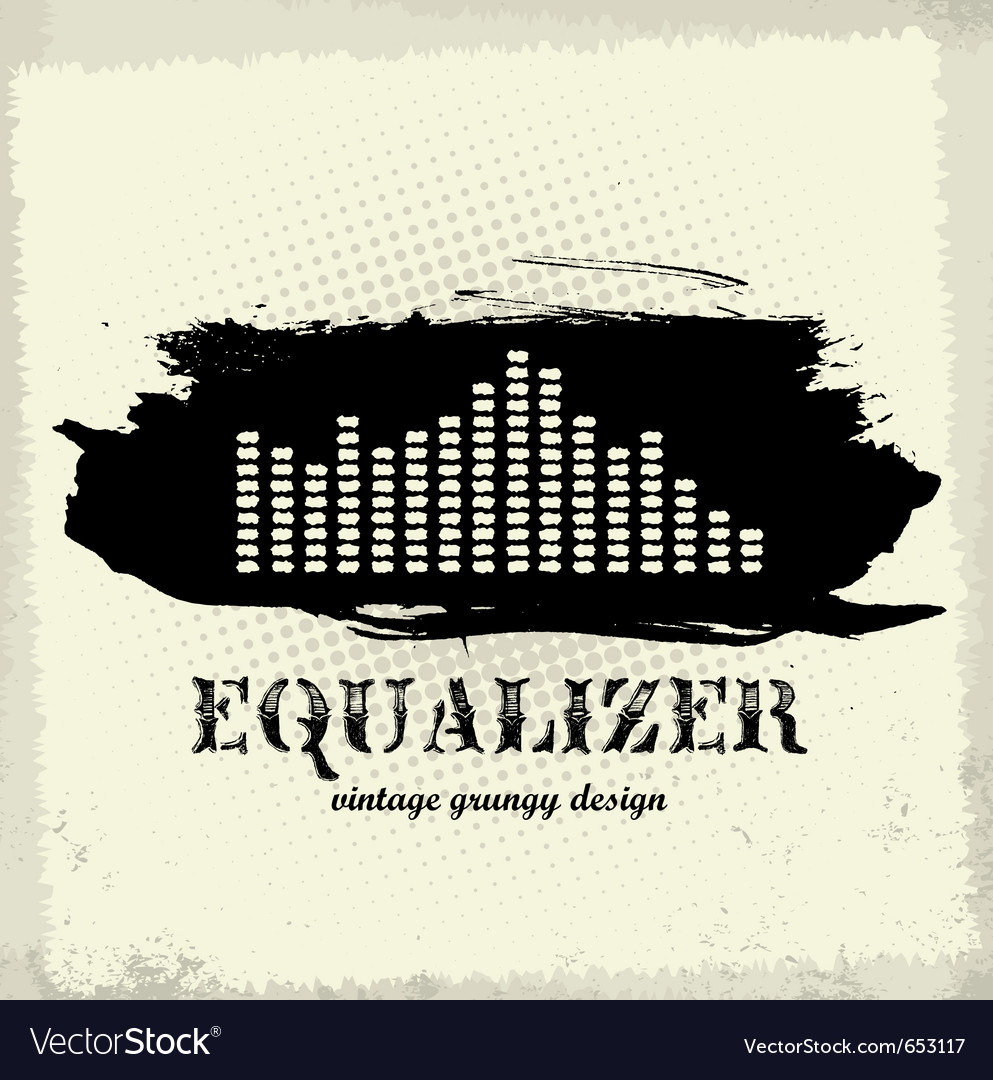 Antique vintage a art of waveform equalizer vector | Price: 1 Credit (USD $1)