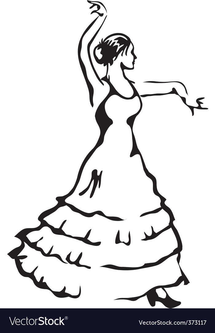 Flamenco dancer vector | Price: 1 Credit (USD $1)