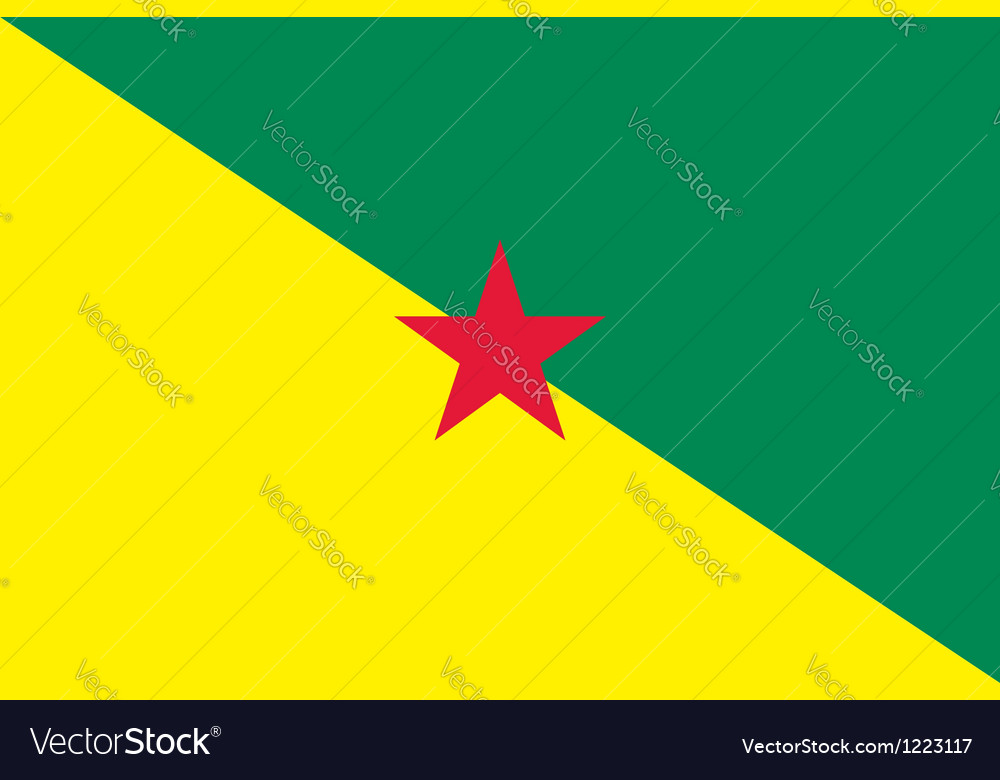 French guiana flag vector | Price: 1 Credit (USD $1)