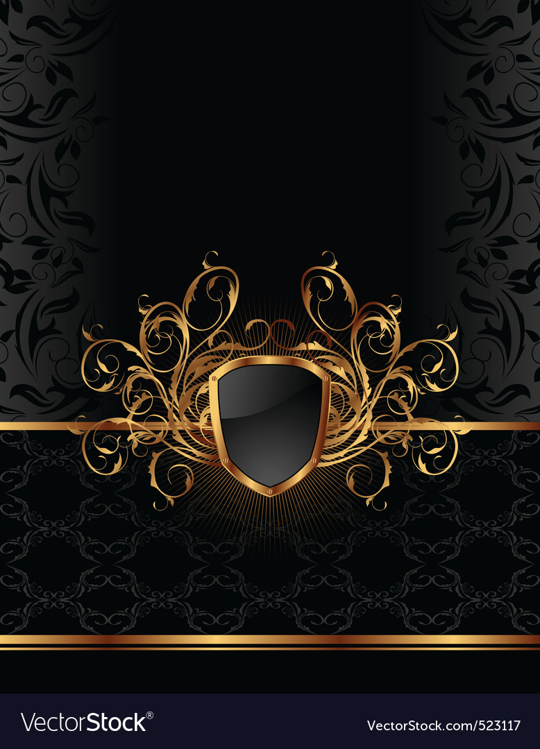 Golden ornate vector | Price: 3 Credit (USD $3)