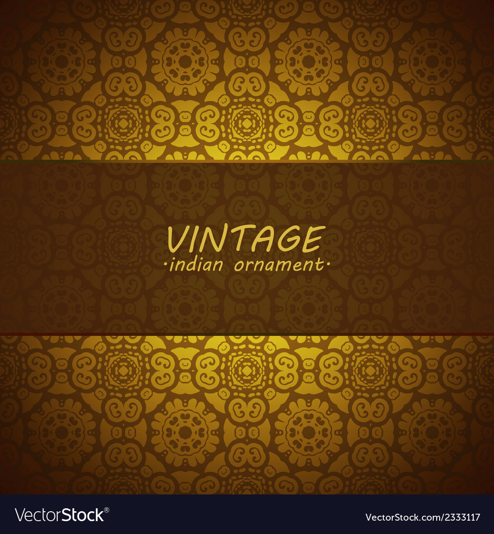 Lace pattern background with indian ornament vector | Price: 1 Credit (USD $1)