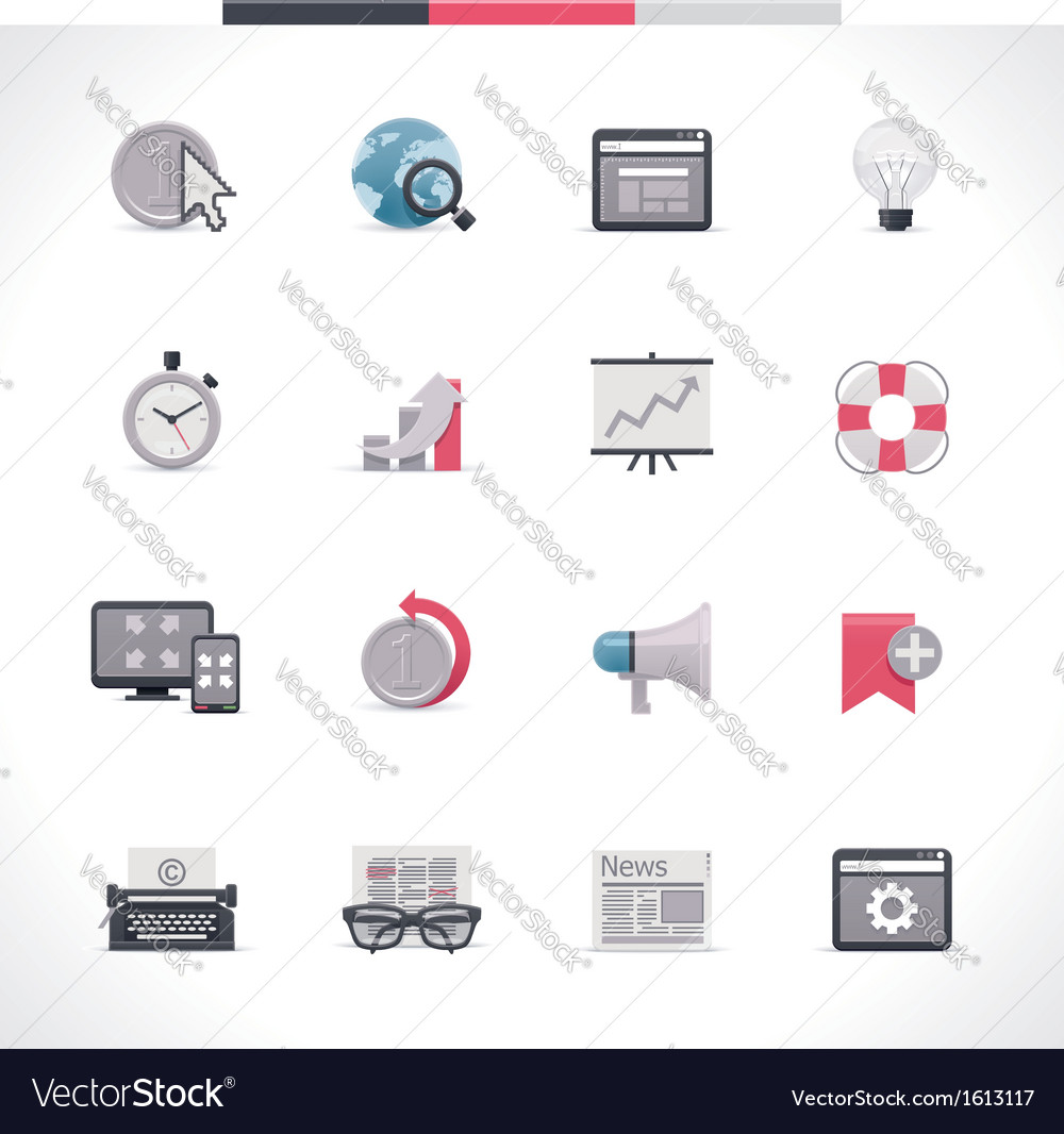 Seo icon set part 2 vector | Price: 1 Credit (USD $1)