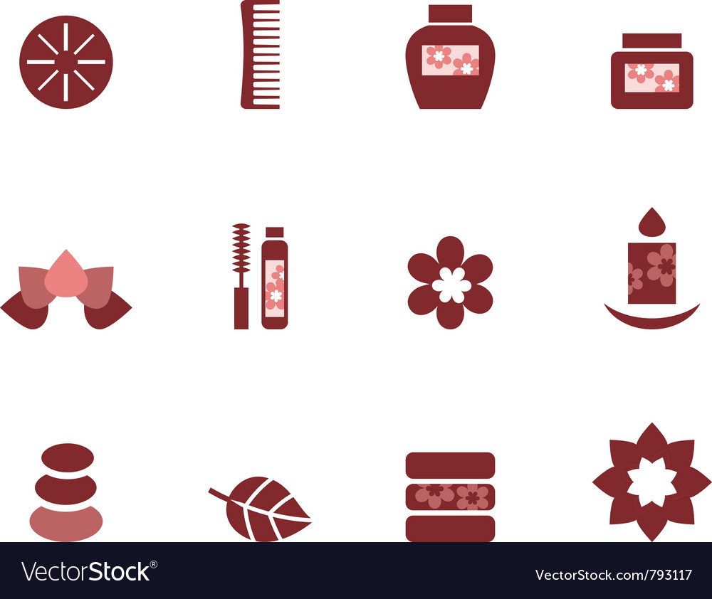 Spa and wellness icons vector | Price: 1 Credit (USD $1)