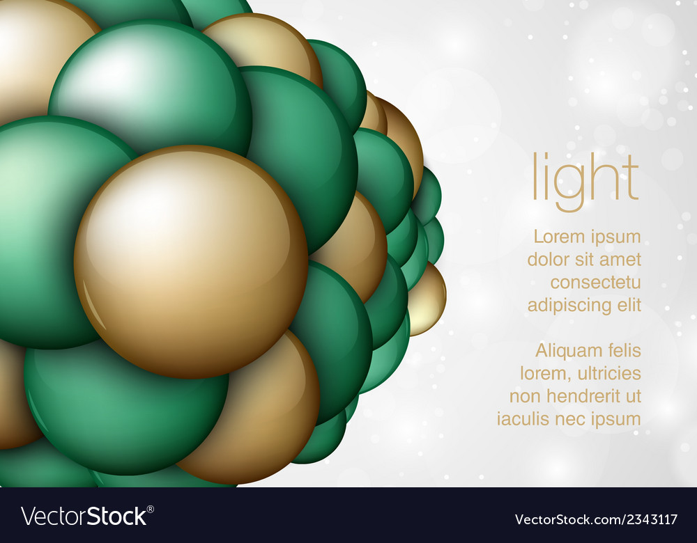 Sphere in the form balls vector | Price: 1 Credit (USD $1)