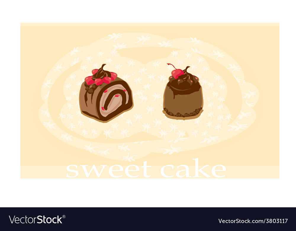 Sweet cakes card vector | Price: 1 Credit (USD $1)