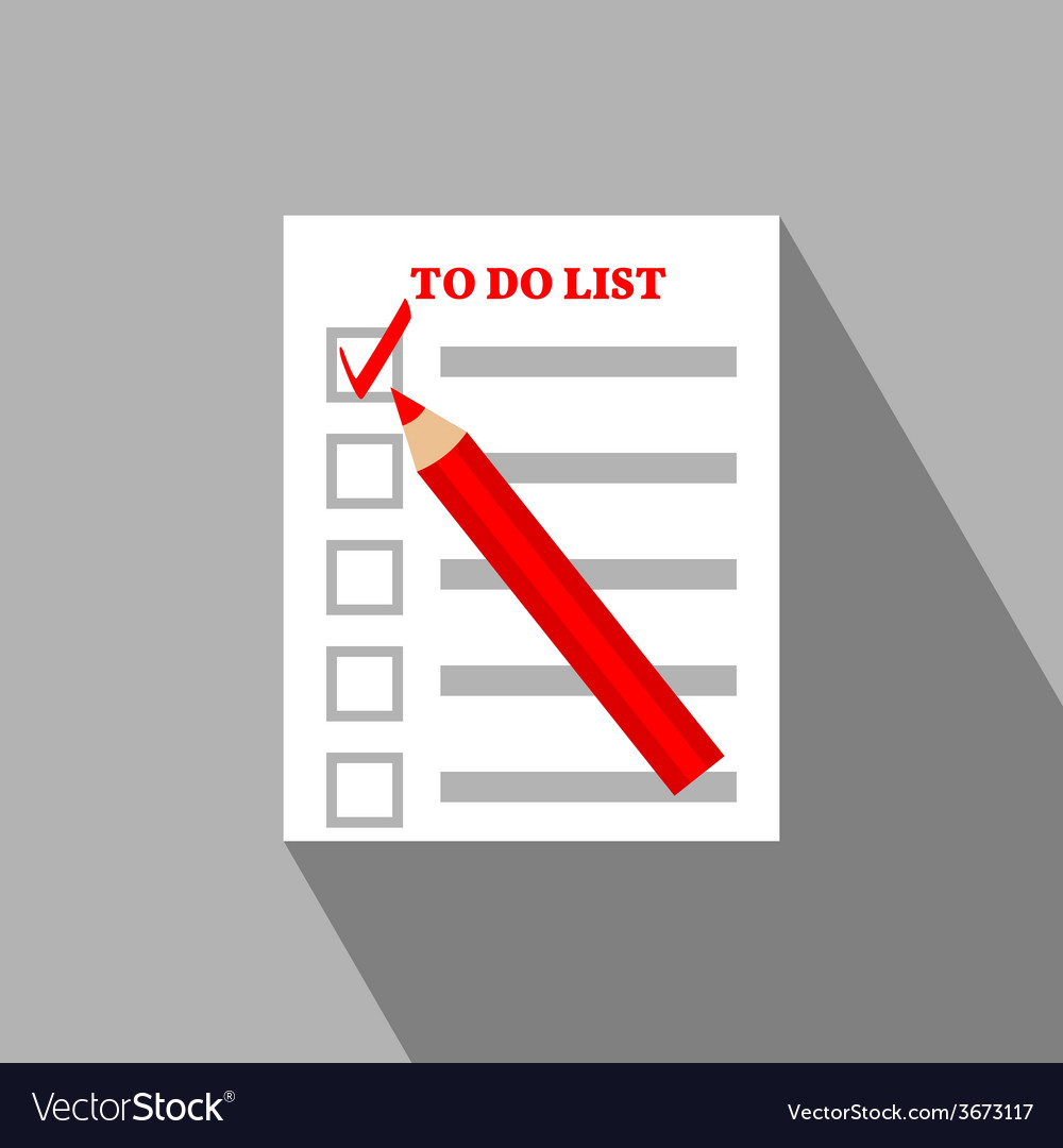 To do list flat icon design vector | Price: 1 Credit (USD $1)