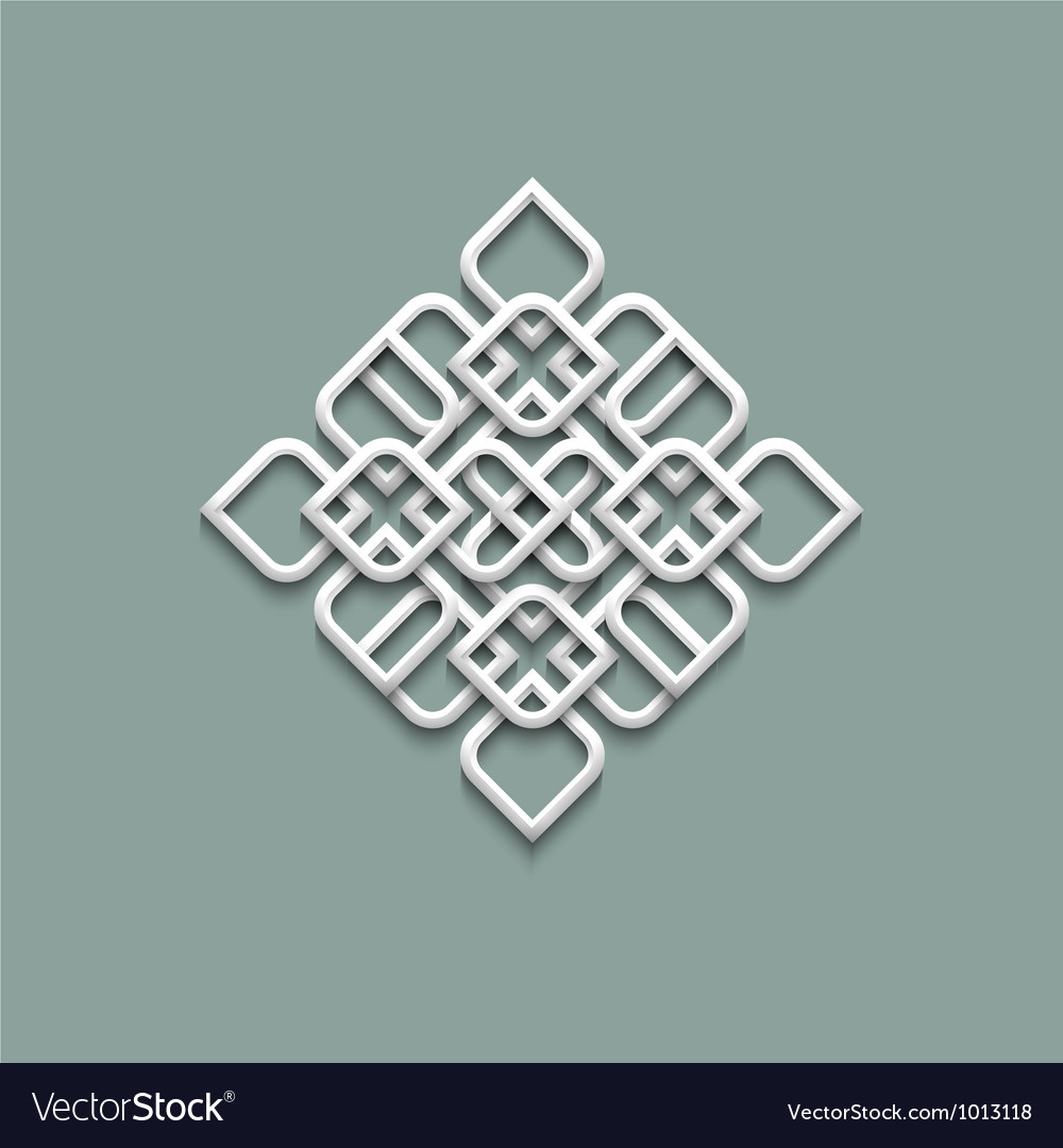 3d pattern in arabic style vector | Price: 1 Credit (USD $1)