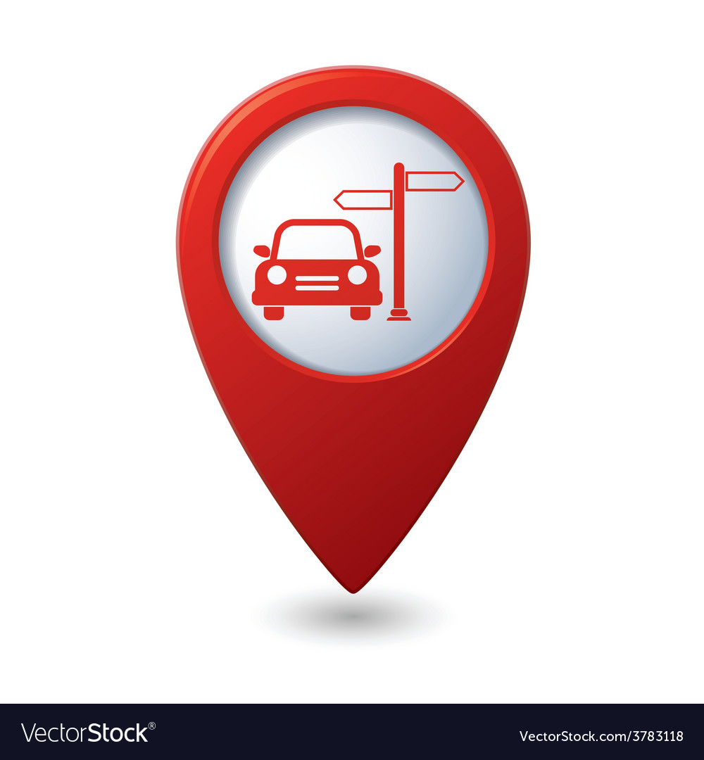Direct car red pointer vector | Price: 1 Credit (USD $1)