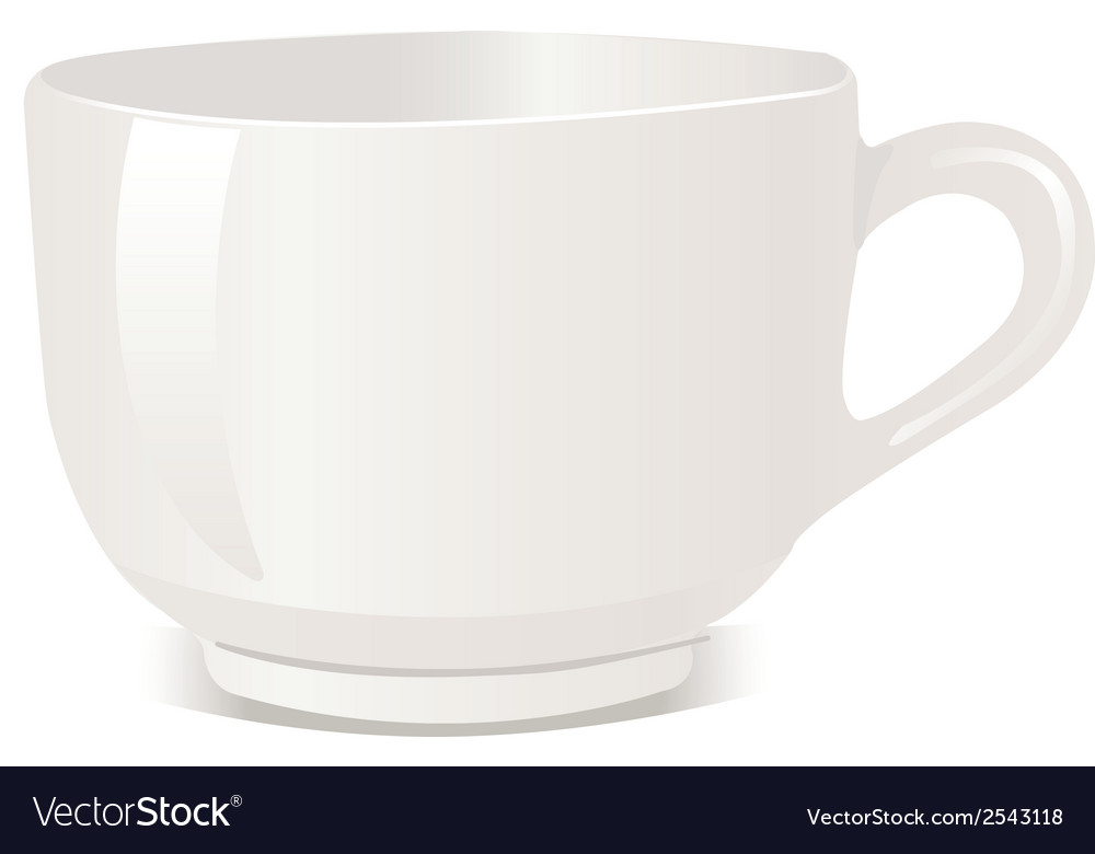 Realistic cup over white backgro vector | Price: 1 Credit (USD $1)