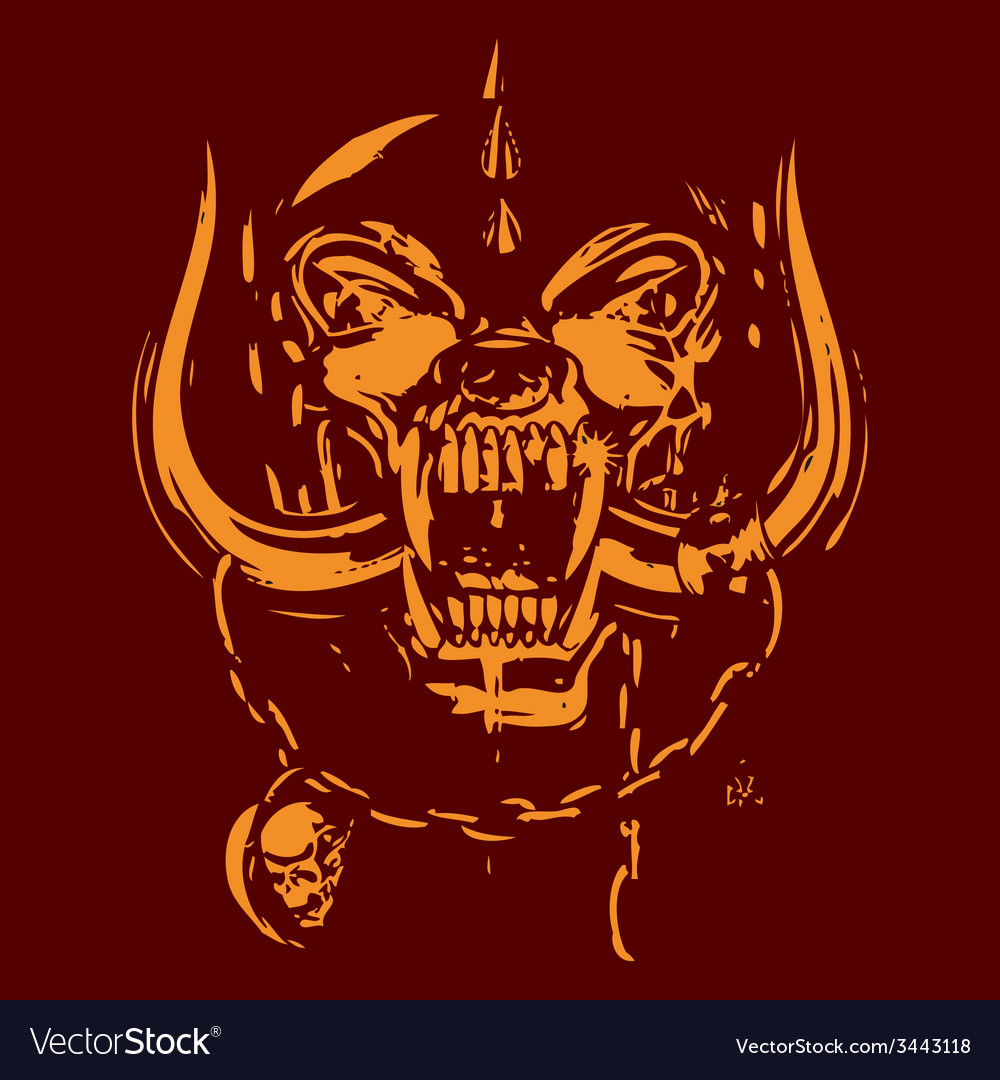 Red and yellow skull vector | Price: 1 Credit (USD $1)
