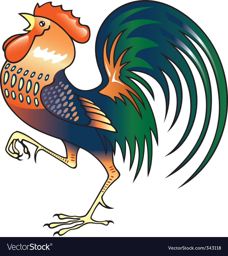 Singing rooster vector | Price: 1 Credit (USD $1)