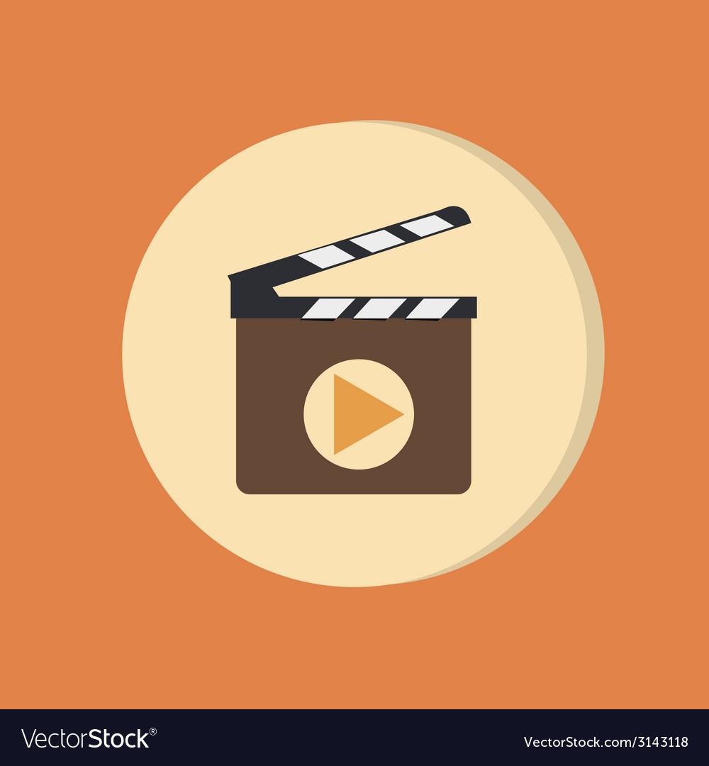 Slate board symbol of cinema vector | Price: 1 Credit (USD $1)