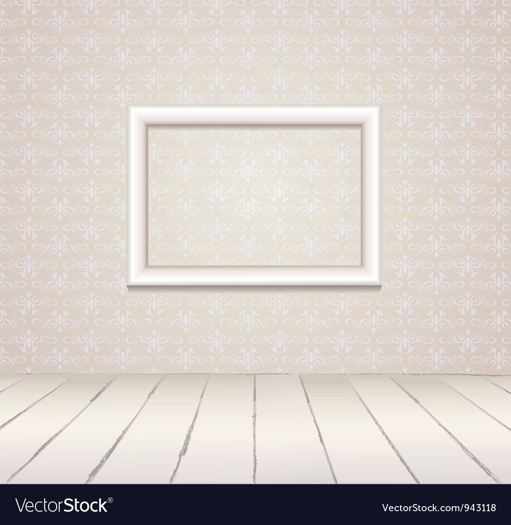 White vintage interior with frame vector | Price: 1 Credit (USD $1)