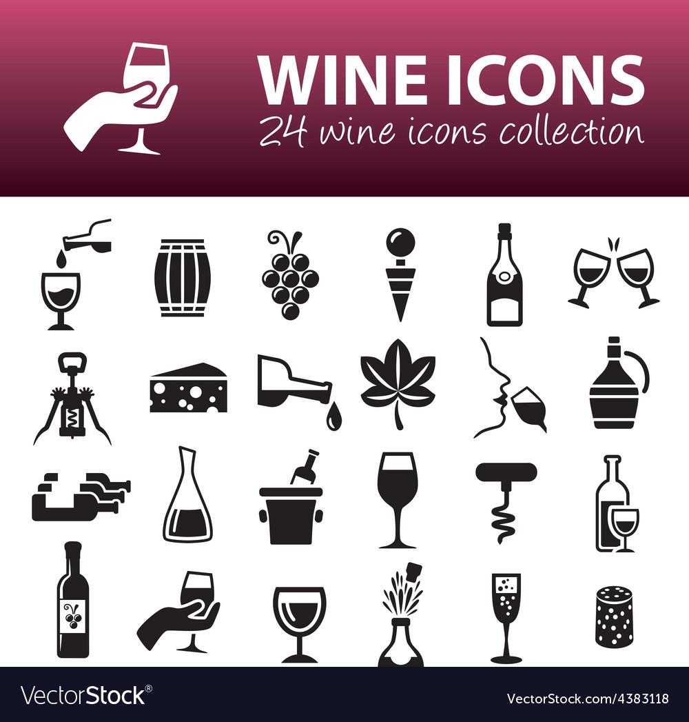 Wine icons vector | Price: 1 Credit (USD $1)