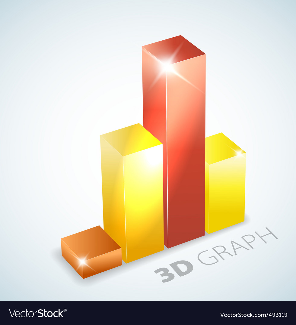 3d bar graph vector | Price: 1 Credit (USD $1)