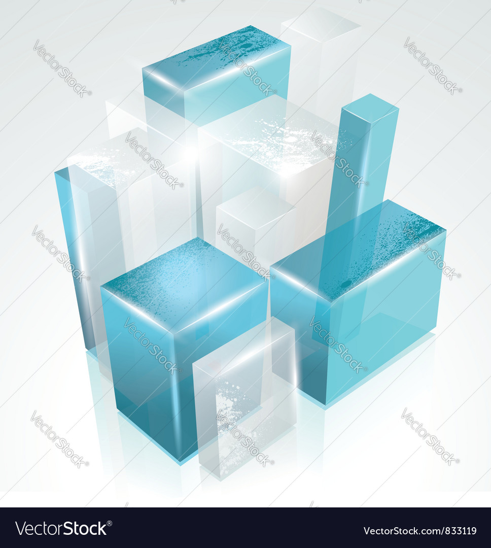 3d glass rectangles abstract background vector | Price: 1 Credit (USD $1)