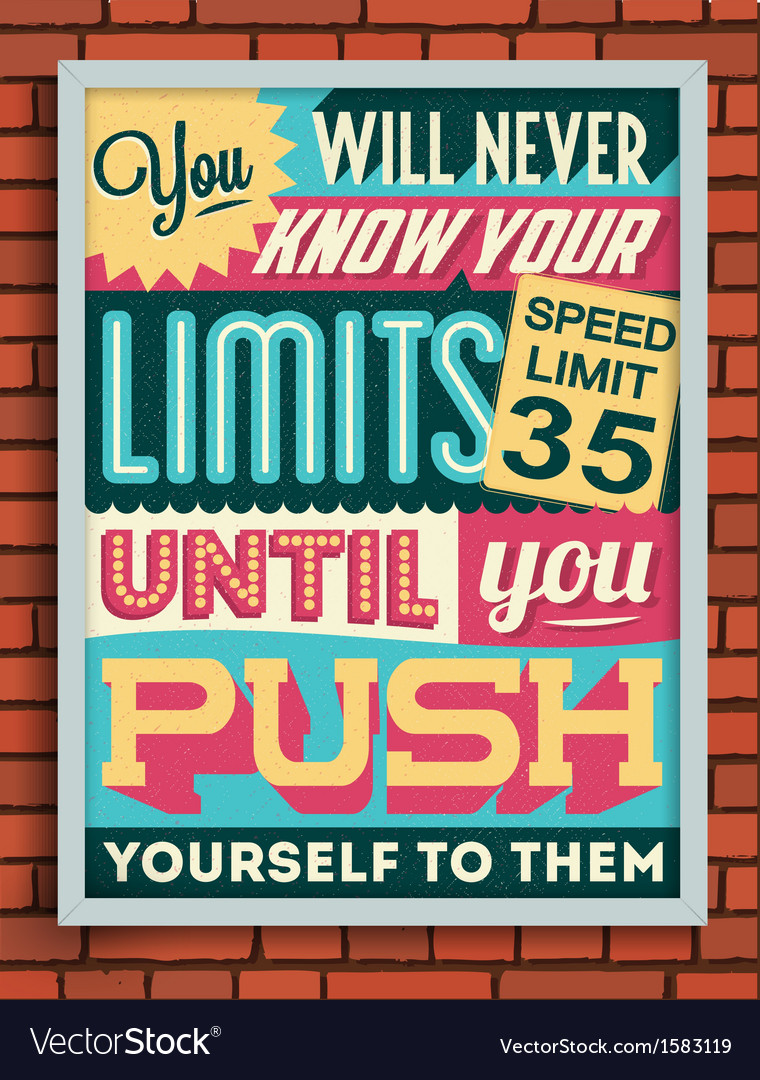 Colorful retro vintage motivational quote poster vector   Price: 1 Credit (USD $1)