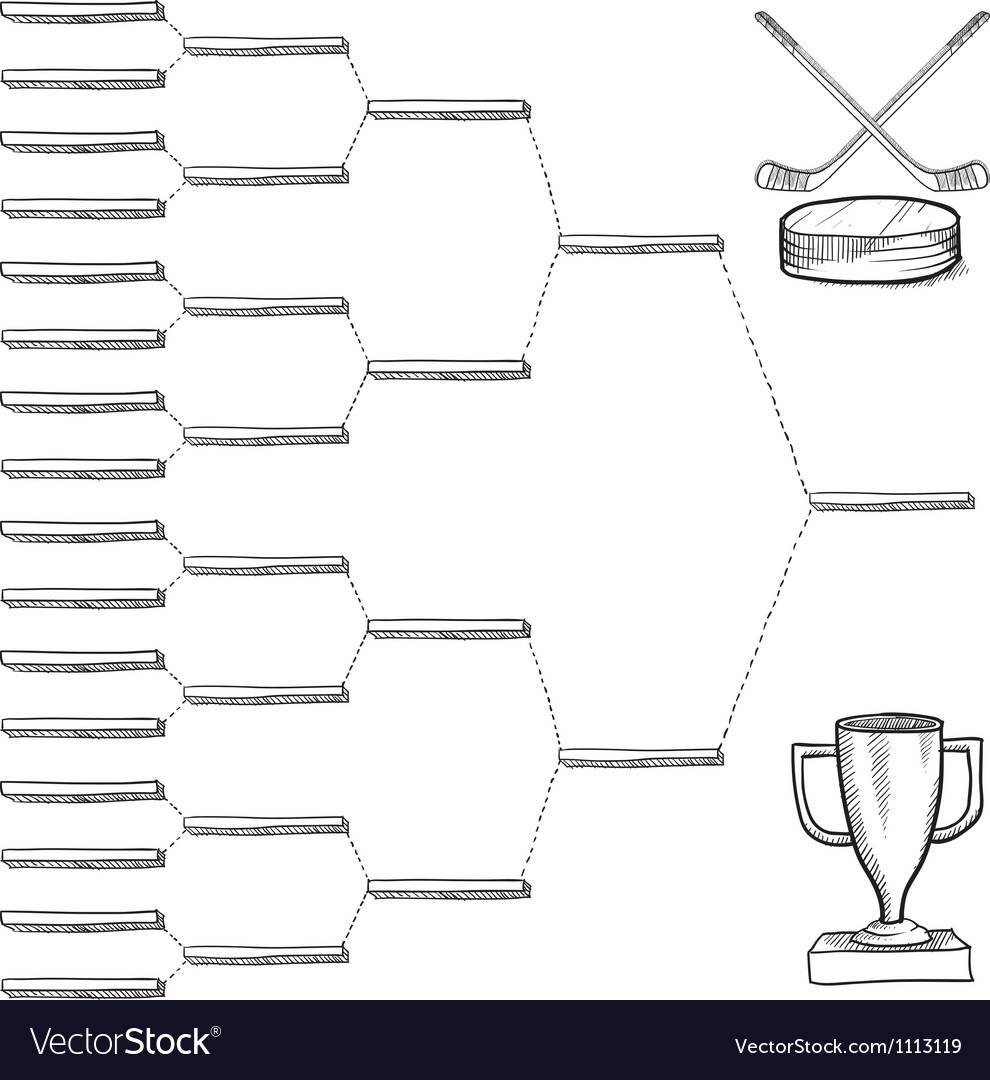 Doodle sports bracket nhl vector | Price: 1 Credit (USD $1)