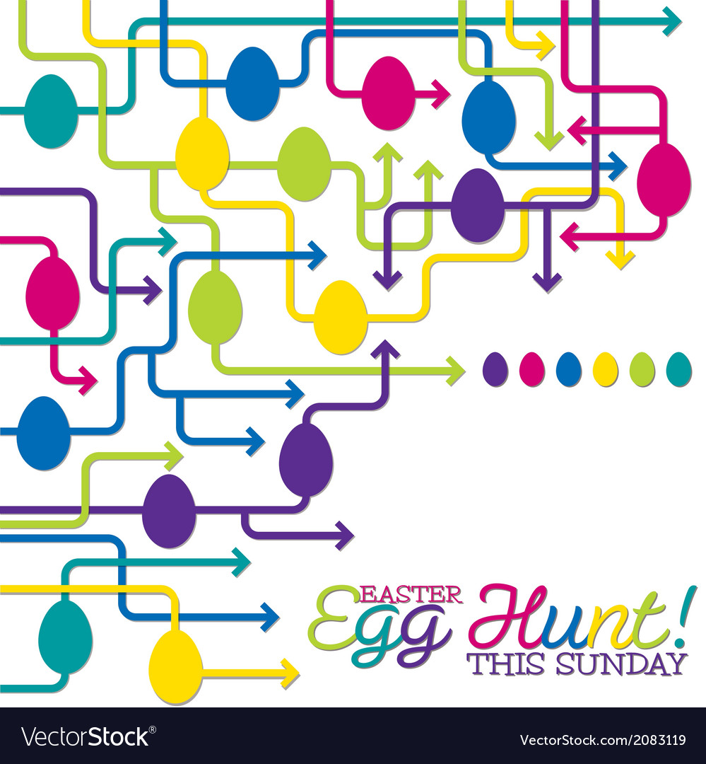 Easter egg hunt poster in format vector | Price: 1 Credit (USD $1)