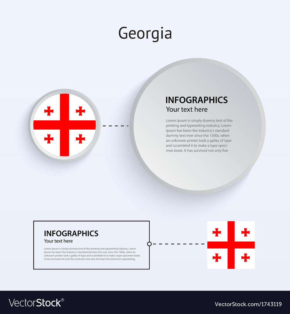 Georgia country set of banners vector | Price: 1 Credit (USD $1)