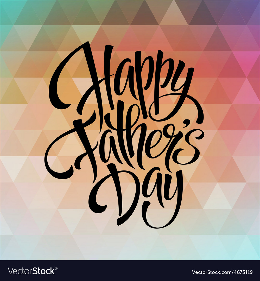 Greeting card template for father day vector | Price: 1 Credit (USD $1)