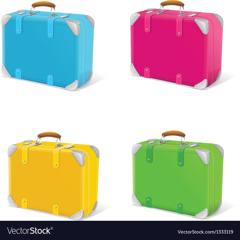 Icon set travel suitcase vector | Price: 1 Credit (USD $1)