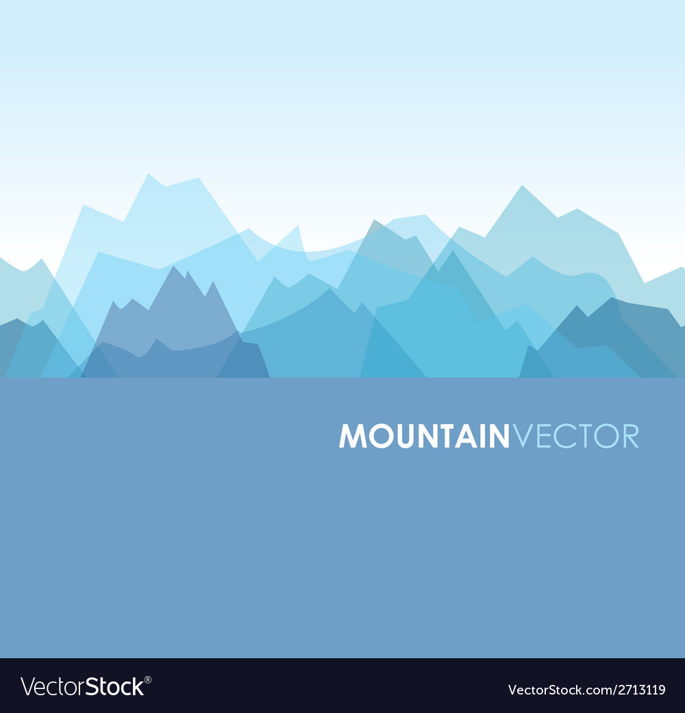 Mountains blue vector | Price: 1 Credit (USD $1)