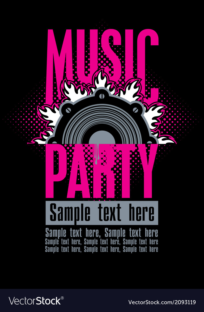Musical party vector | Price: 1 Credit (USD $1)