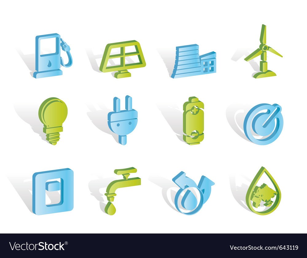 Power and energy icons vector | Price: 1 Credit (USD $1)