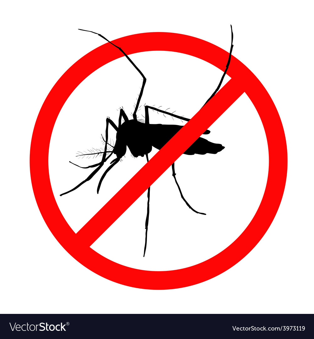 Prohibition sign for mosquitos on vector | Price: 1 Credit (USD $1)
