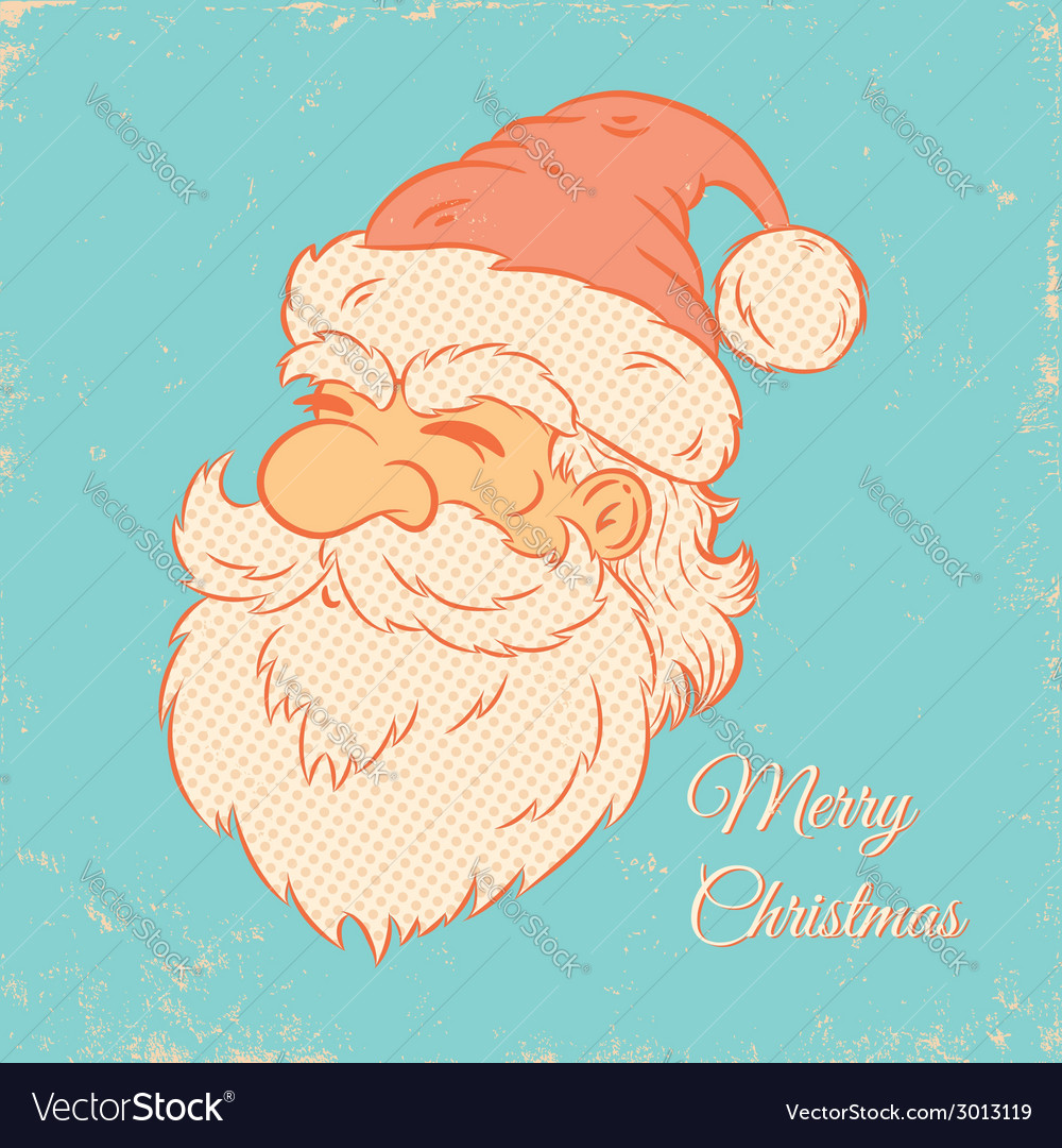 Santa retro vector | Price: 1 Credit (USD $1)