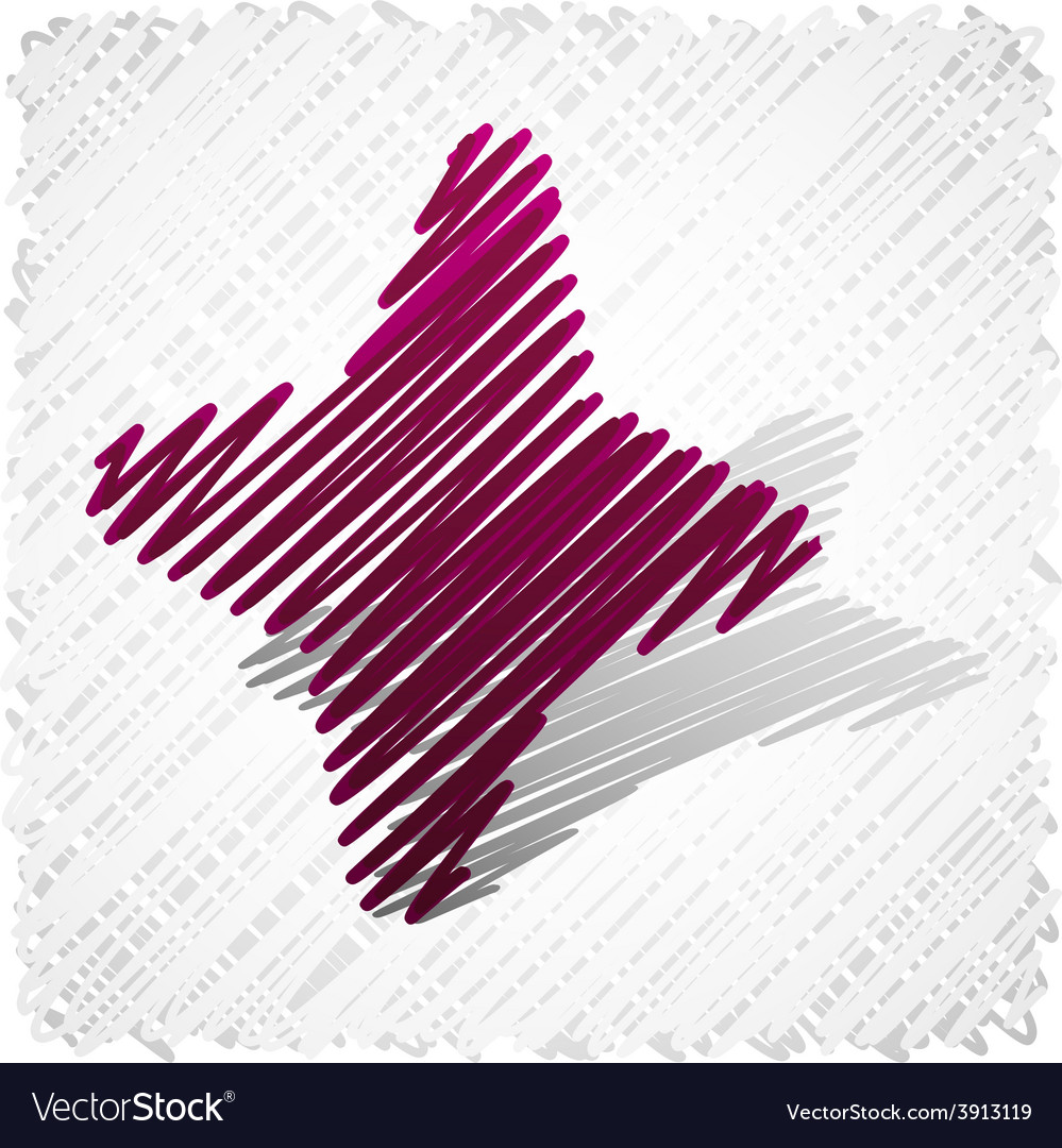 Scribbled magenta four-star vector | Price: 1 Credit (USD $1)