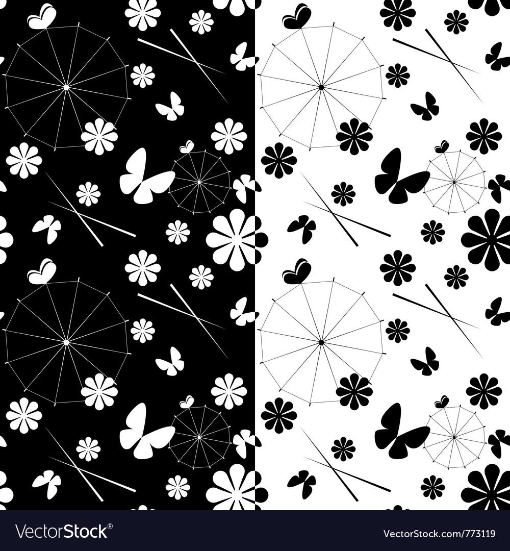 Seamless jaran parasol pattern vector | Price: 1 Credit (USD $1)