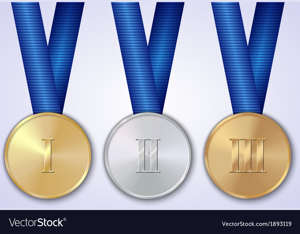 Set of sportive award medals vector | Price: 1 Credit (USD $1)